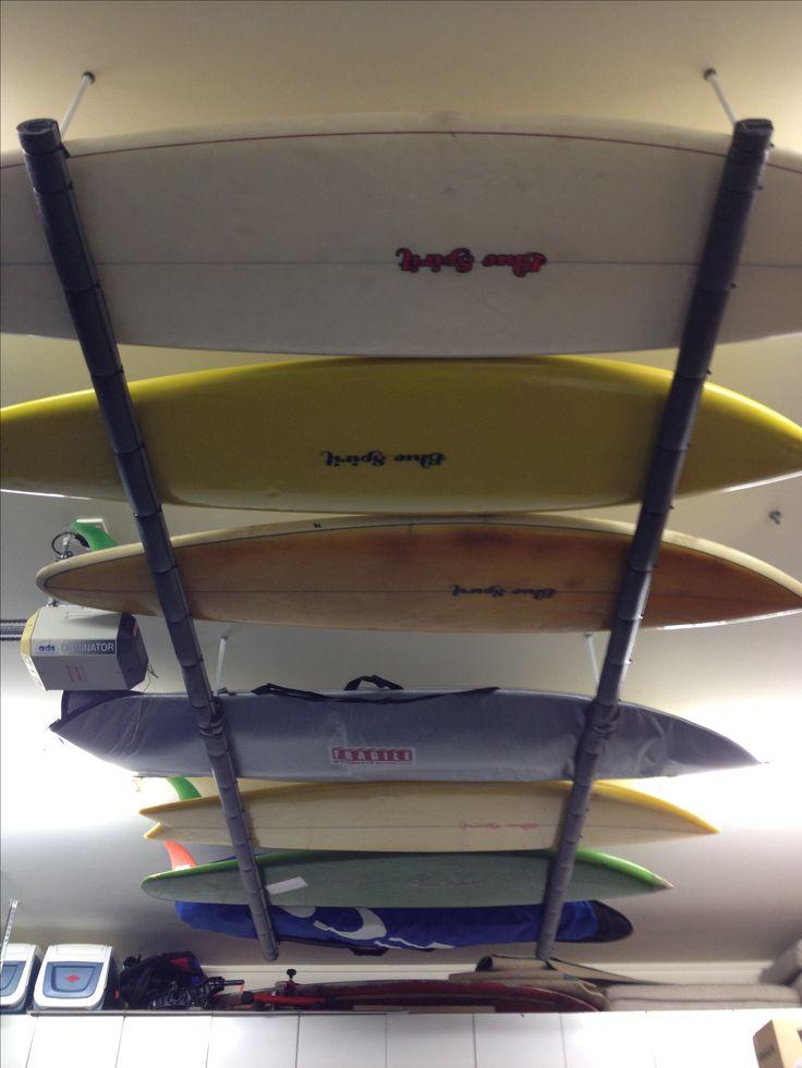 Blue spirit surfboard rack