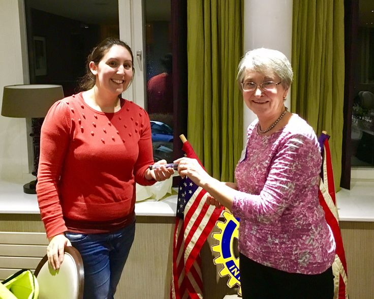 Katie Waters the coordinator of Leeds Street Angels visited the Rotary Club of Roundhay to talk about how they help people stay safe on a night out in Leeds