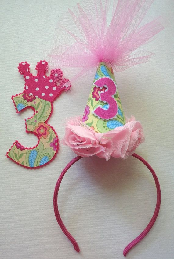 Party Hat Headband and Iron on DEAL for birthday 1 by alphabulous, $20.00