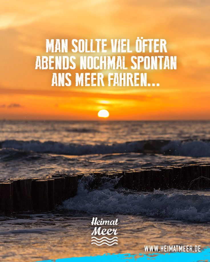 Man sollte viel öfter abends nochmal spontan ans Meer fahren.