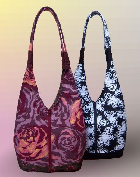 The Annalise Bag – PDF Pattern + Elastic Ruching Tutorial from Around the Bobbin + Freckled Laundry!
