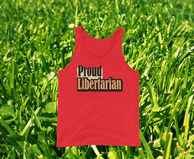 Our popular Proud Libertarian Unisex Tank Top in RED triblend (28,56$) Available now in 8 colors! Sizes: XS-2XL. Grab your own from our online store! :) #proudlibertarian #libertarianism #tanktop #unisexclothing #unisextank #freespeech #libertarian #tank #top #rebelmedia #thealtright #altright #libertarianapparel #libertarianshirts