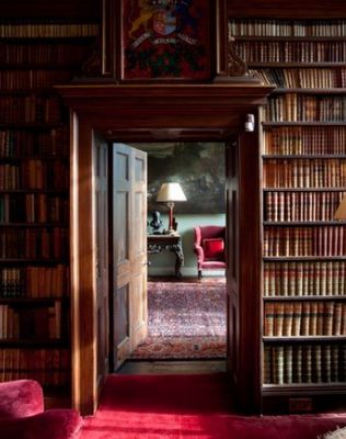 Library from Irish Country House-Just want to walk into this picture.