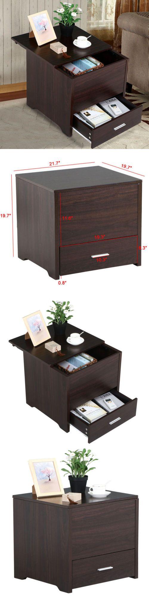 Bedside table decor pinterest - Nightstands 38199 Espresso Nightstand Bedside End Table Night Stand Bedroom Furniture Buy It
