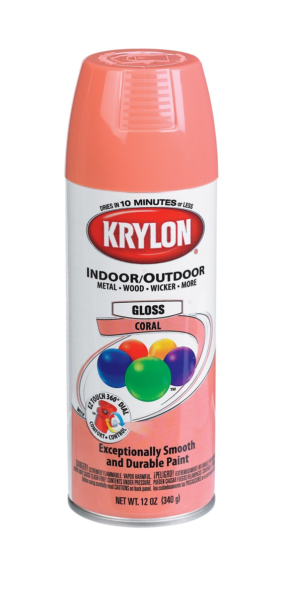 This is the year I spray paint EVERYTHING!  The swing set, the porch swing, the power wheels....  Krylon K05210300 Indoor/Outdoor Spray Paint Coral 12 Oz - Ace Hardware, NY