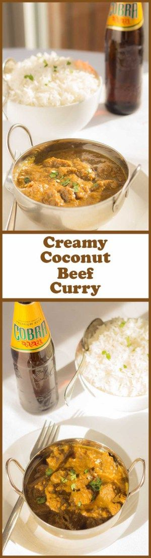 This creamy coconut beef curry has all the amazing flavours that you would expect from a dairy cream based curry but, it's made with healthier creamed coconut and it's lower in calories and fat. This is a mild curry and it's really easy to make too.