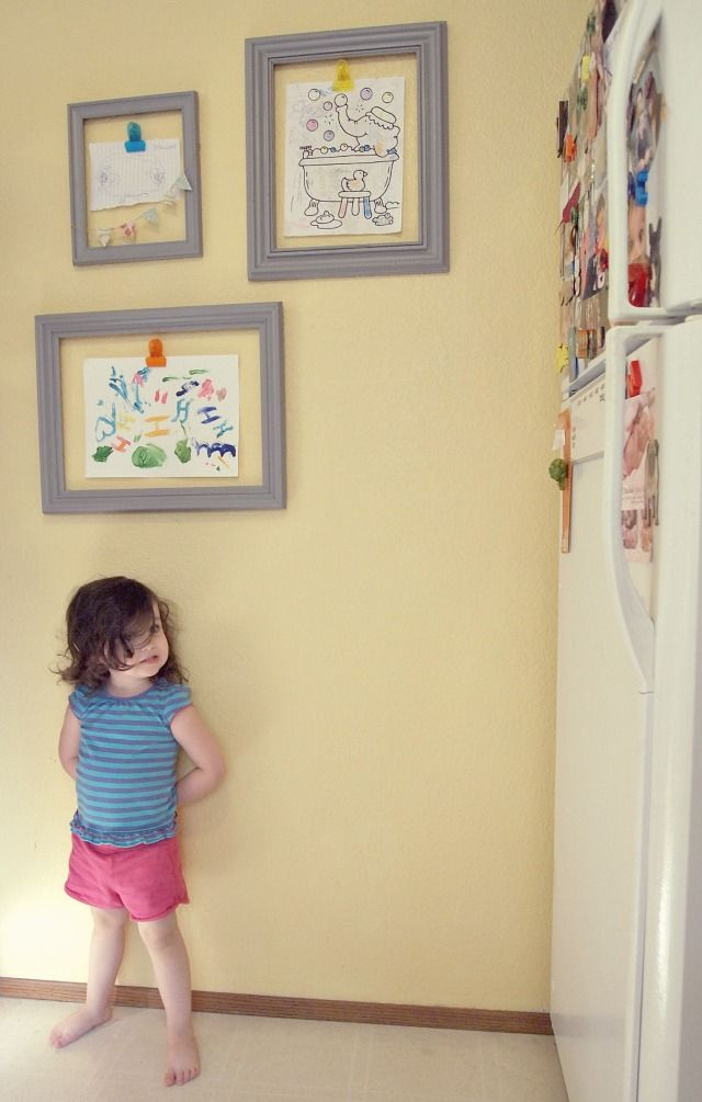 Cute Ways To Hang Pictures Without Frames. Good Images About Kids ...