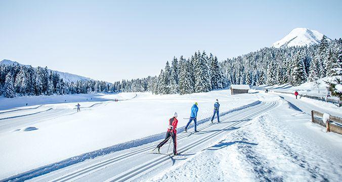 Das Loipennetz der Olympiaregion Seefeld erstreckt sich über 271 Kilometer und bietet Langlaufvergnügen in allen Schwierigkeitsgraden. Mit unserem praktischen Loipenfinder haben Sie die gesamten Loipen im Überblick und können die für Sie relevanten Langlaufstrecken nach Ort, Merkmale, Schwierigkeit und Streckenlänge selektieren.