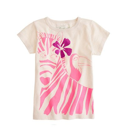 Girls' zoo friends tee