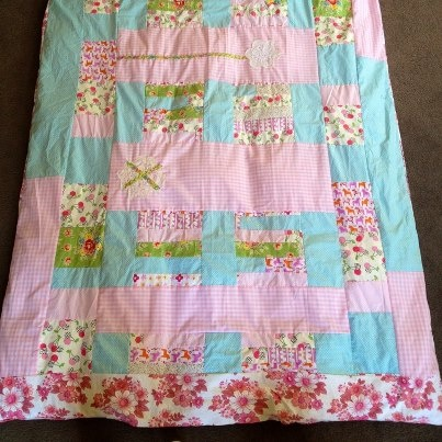 pretty patchwork doona cover - simmone star