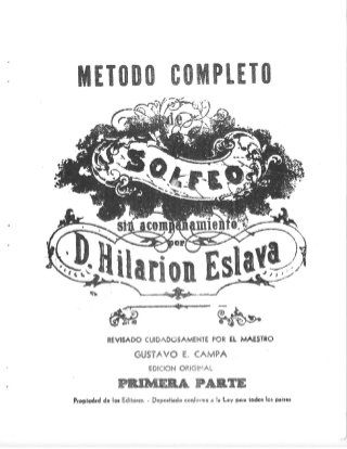 Hilarion Eslava Metodo De Solfeo Epub