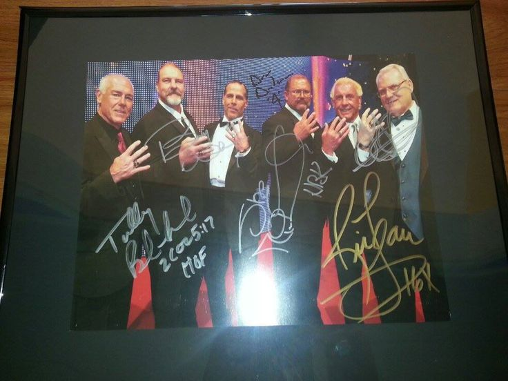 Wrestling 2902: Autographed 16X20 Ric Flair Hbk, Arn Anderson, Jj, Barry Whindham, Tully -> BUY IT NOW ONLY: $125 on eBay!