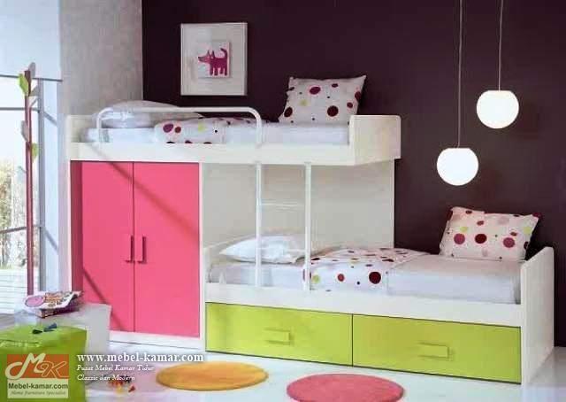 Ranjang Susun Anak Minimalis Warna (R01)