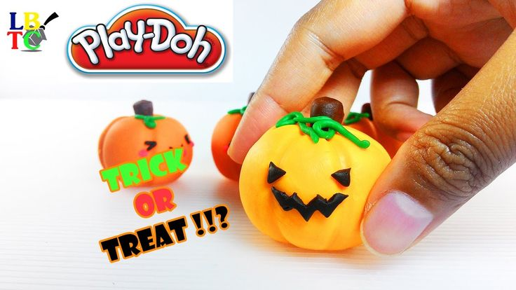 Play Doh Cute Pumpkin Halloween Family - Trick or Treat