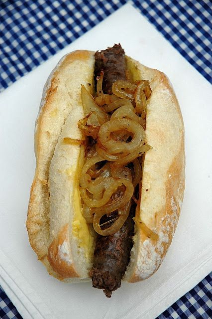 "A Proudly South African ""Hot dog"" or Boerewors Roll 