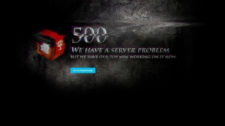 500 Server error screen