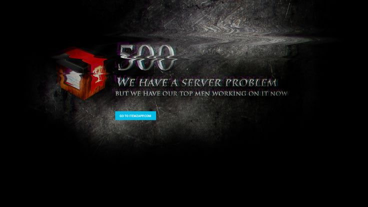 500 Server error screen