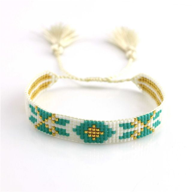 Femmes De Mode Bracelet Bracelet Bohème Miyuki Perle De Rocaille Gland Tressé Corde Chaîne Classique Beau Cadeau Unisexe Bijoux Accessoires