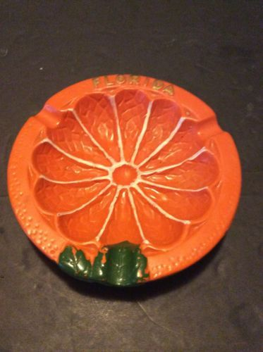 Florida Orange Bowl Ashtray Vintage Florida Souvenir Miami Florida ...