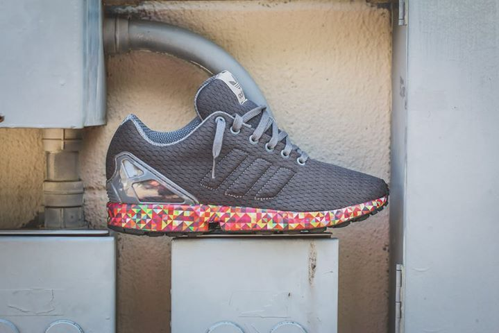 Great shots of the Adidas ZX Flux Prism Sole. Available now.  http://ift.tt/1fZcXG7