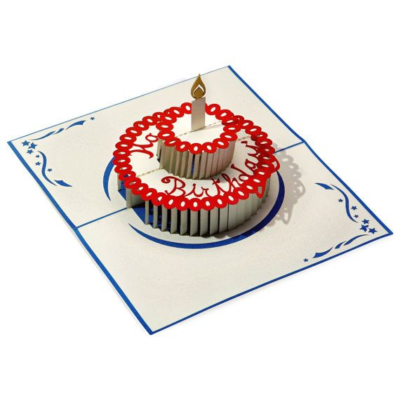 Laser Cut Happy Birthday Paper Pop-up Card From LovePop.  Say Happy Birthday with some flair!
