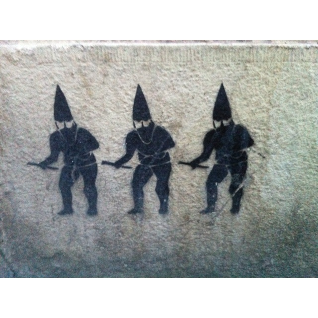 Three black ninjas, Zizkov, Prague