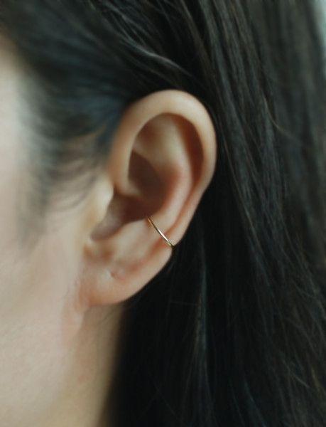 Ohrclips – Goldfarbenes Fake Conch Piercing, Ohrstulpe – ein Unikat von Tak …   – Health & Beauty