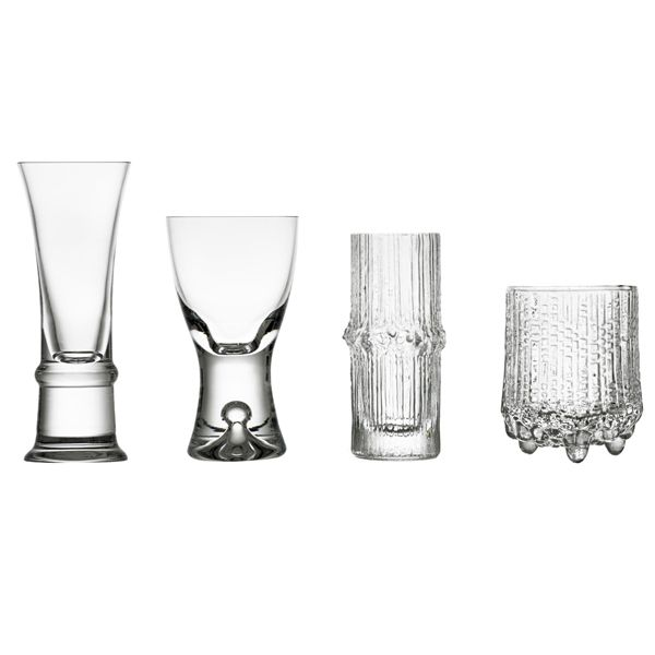 Wirkkala cordial, set of 4, by Iittala. Designed by Tapio Wirkkala.