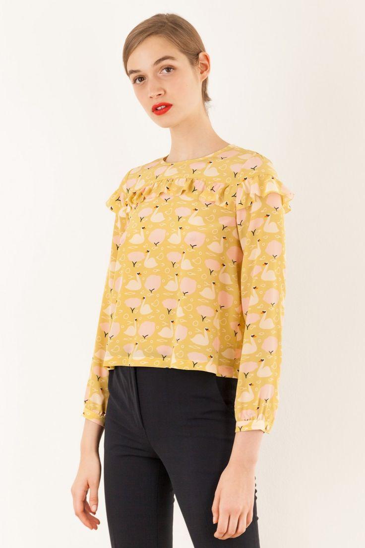 Camicia in seta - illustrazione Anna Kövecses Abbigliamento Donna Made in Italy