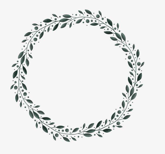 Leaves Border Leaf Border Wreath Drawing Circular Tattoo Designs