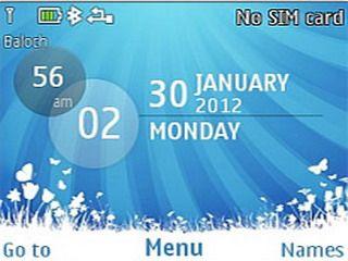 Galaxy Blue theme for Nokia C3, X2-01 & Asha 200 201 320x240, asha 200, Asha 201, Asha 205, Asha 302, Asha 303, C3, C3 & X2-01 Theme, colors clock theme, download free, HTC 7 Mozart, mobiiles theme, nokia theme, X2-01