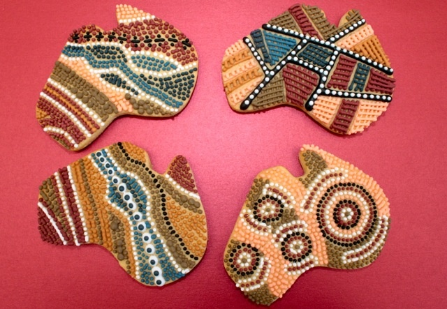 Indigenous Australian artwork cookies