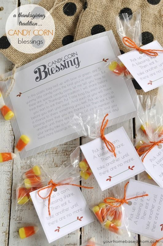 Candy Corn Blessings - a fun family Thanksgiving tradition