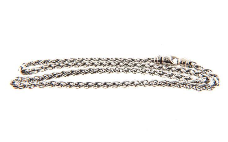 """David Yurman Sterling Silver 18.5"""" Classic Wheat Chain Necklace 4mm 27g. #DavidYurman #Chain"""