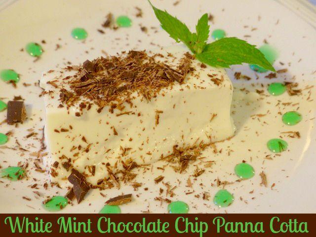 White Mint Chocolate Chip Panna Cotta Recipe