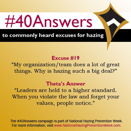 #40Answers Campaign, Day 19: Leaders are held to a higher standard. When you violate the law and forget your values, people notice. #NHPW