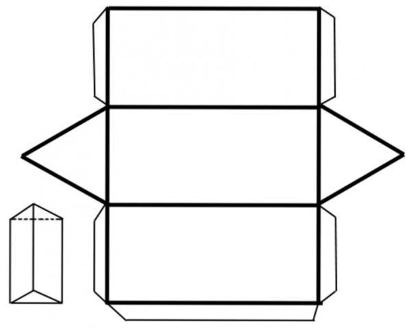 Cómo hacer un prisma con base triangular - 6 pasos