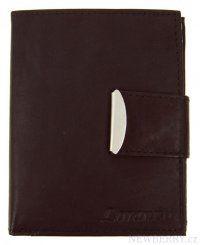 Pánská kožená peněženka Loranzo 462 tmavě hnědá