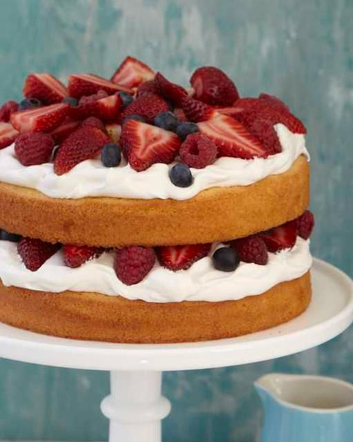 Berries & Cream Pound Cake by Sweet Paul