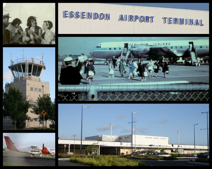 Essendon Airport before and after Tullamarine Airport Melbourne Australia...