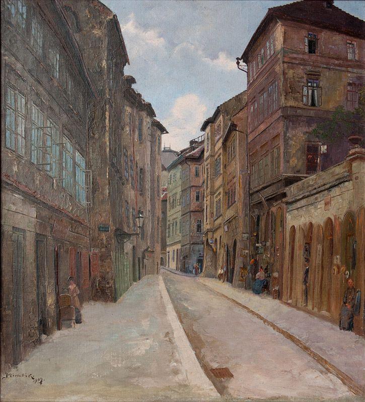 Old Prague | Jan Bedřich Minařík | Czech (1862 - 1937)