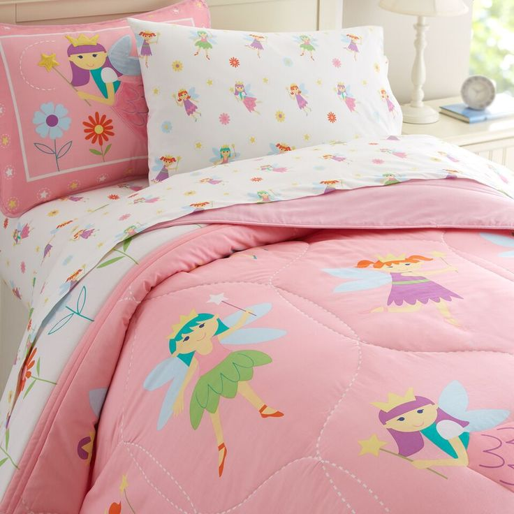 Attractive Pink Princess Fairy Bedding Twin Full/Queen Comforter Set Or Duvet Cover  Cotton Pictures