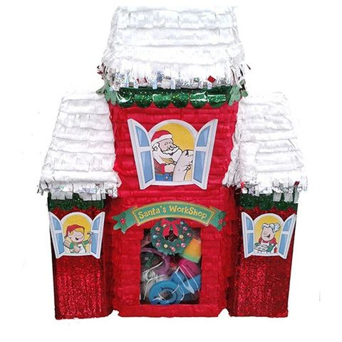 Christmas Santas Workshop Pinata for your kids birthday party! Buy at pinatas.com, home of custom pinatas of the highest quality and the widest selection of pinatas on the internet.