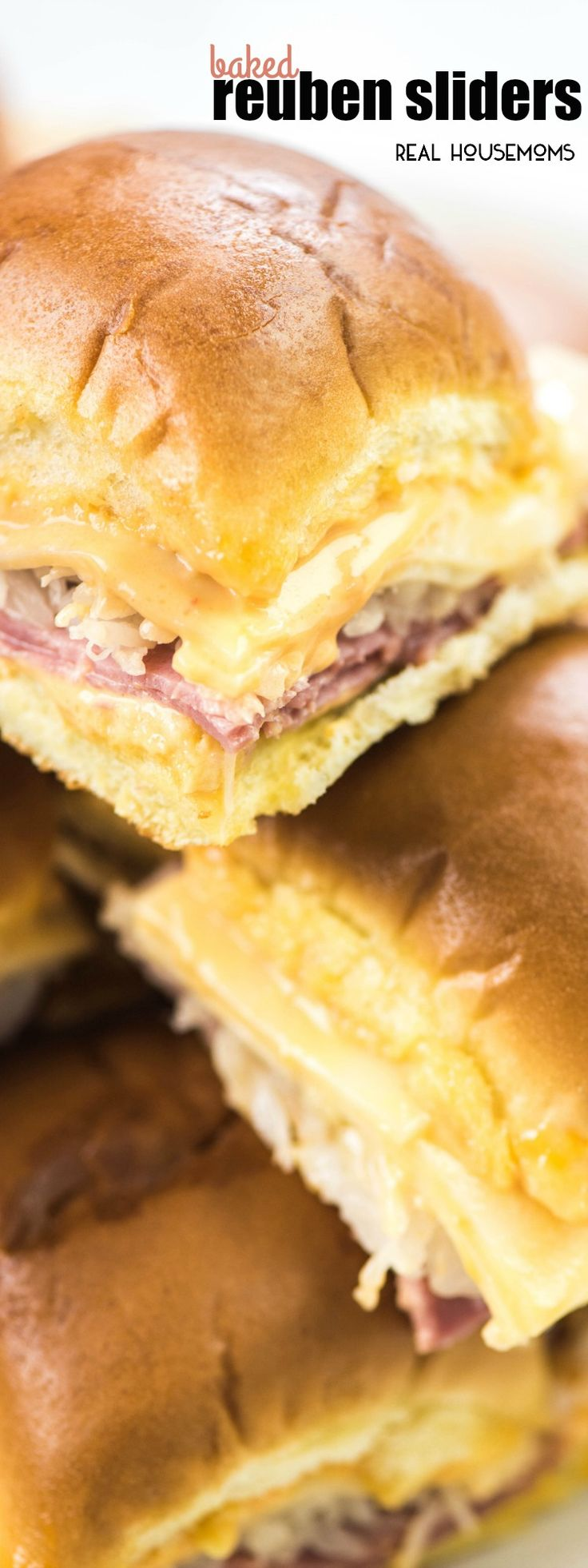 Baked Reuben Sliders are so simple to make and perfect St. Patrick's Day party food! You could make them for any party or just a warm lunch! They always go fast!
