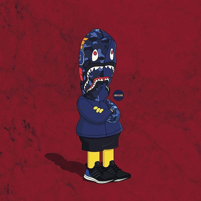 557461260097675936 besides 48001 additionally Bart Simpson in addition The Simpsons As Sneakerheads In Yeezy Boost furthermore Cast Of Naruto Gets Fashionable In Rocksmith Streetwear. on cartoon characters wearing yeezys