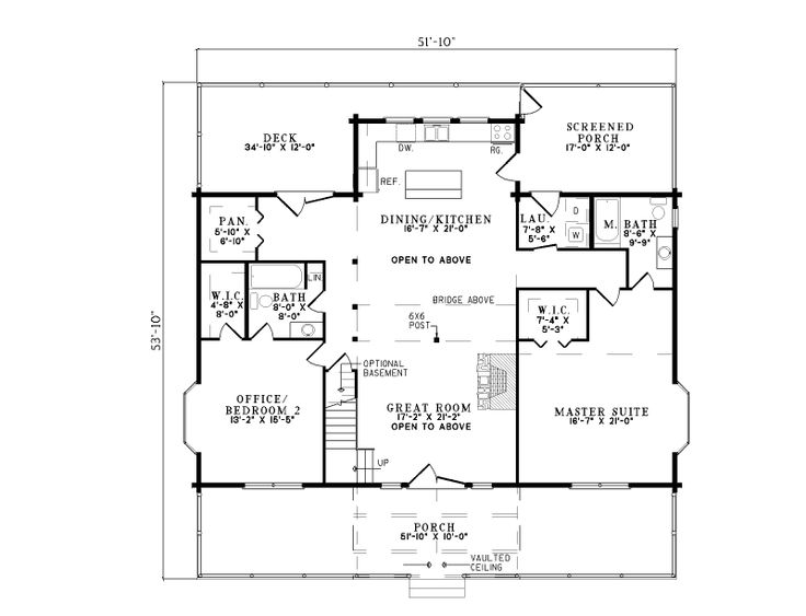 Larger plan but add upstairs loft hidden underground for Free basement design tool