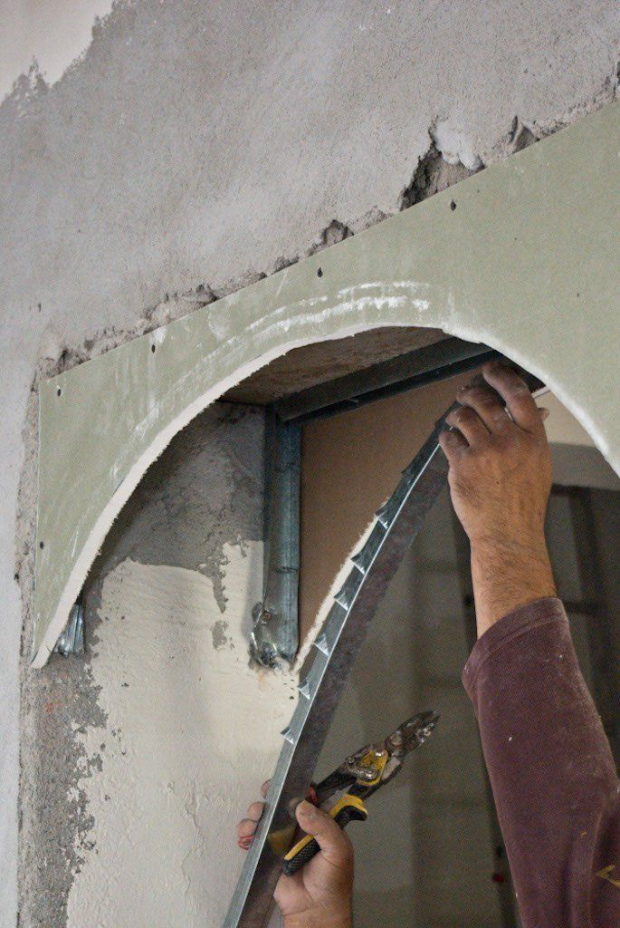 how to build a drywall arch archways in homes drywall on dry wall id=64219