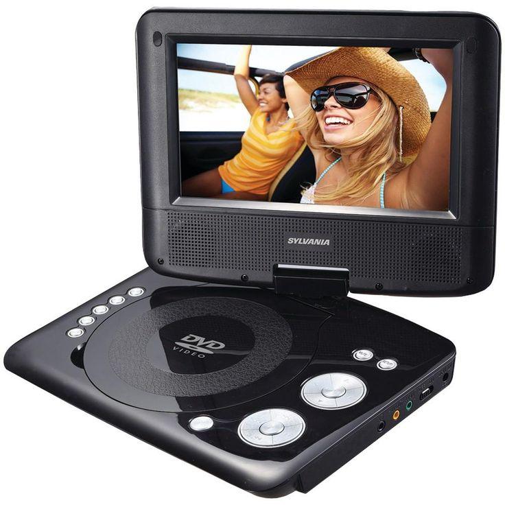 """Sylvania 7"""" Swivel-screen Portable Dvd Player"""