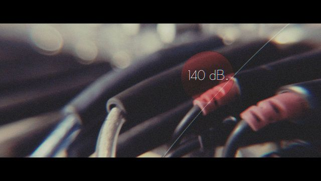 """140 dB by Tadas Svilainis. """"140 dB"""" is experimental film about interaction between sound and physical bodies. The main idea is to show how sound can change objects form and structure including human mental state."""