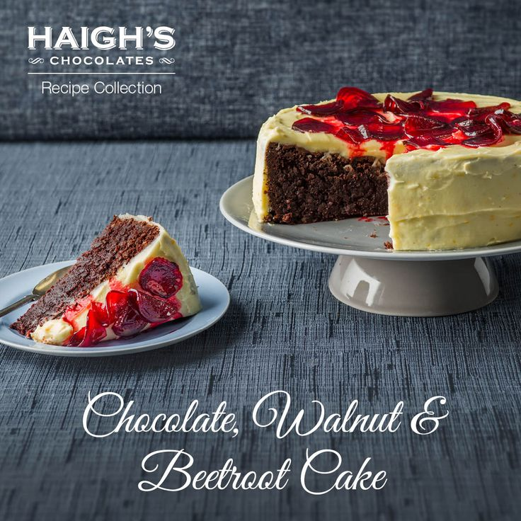 This version of the traditional Red Velvet Cake recipe has the Haigh's twist - Chocolate, Walnut & Beetroot Cake. Our tip is to make the day before you want to enjoy it as it tastes even better when you give it time to let the flavours develop.